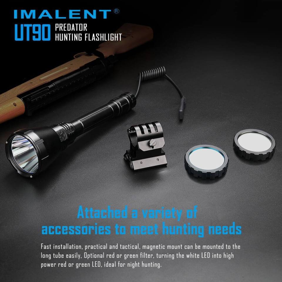 imalent ut90 luminus sbt-90 hunting flashlight attachment options