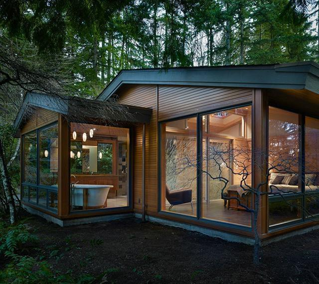 Pacific Northwest Modern Home Shed Roof Architecture Photos
