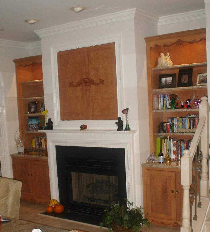 Built In Shelves Around Fireplace Photos