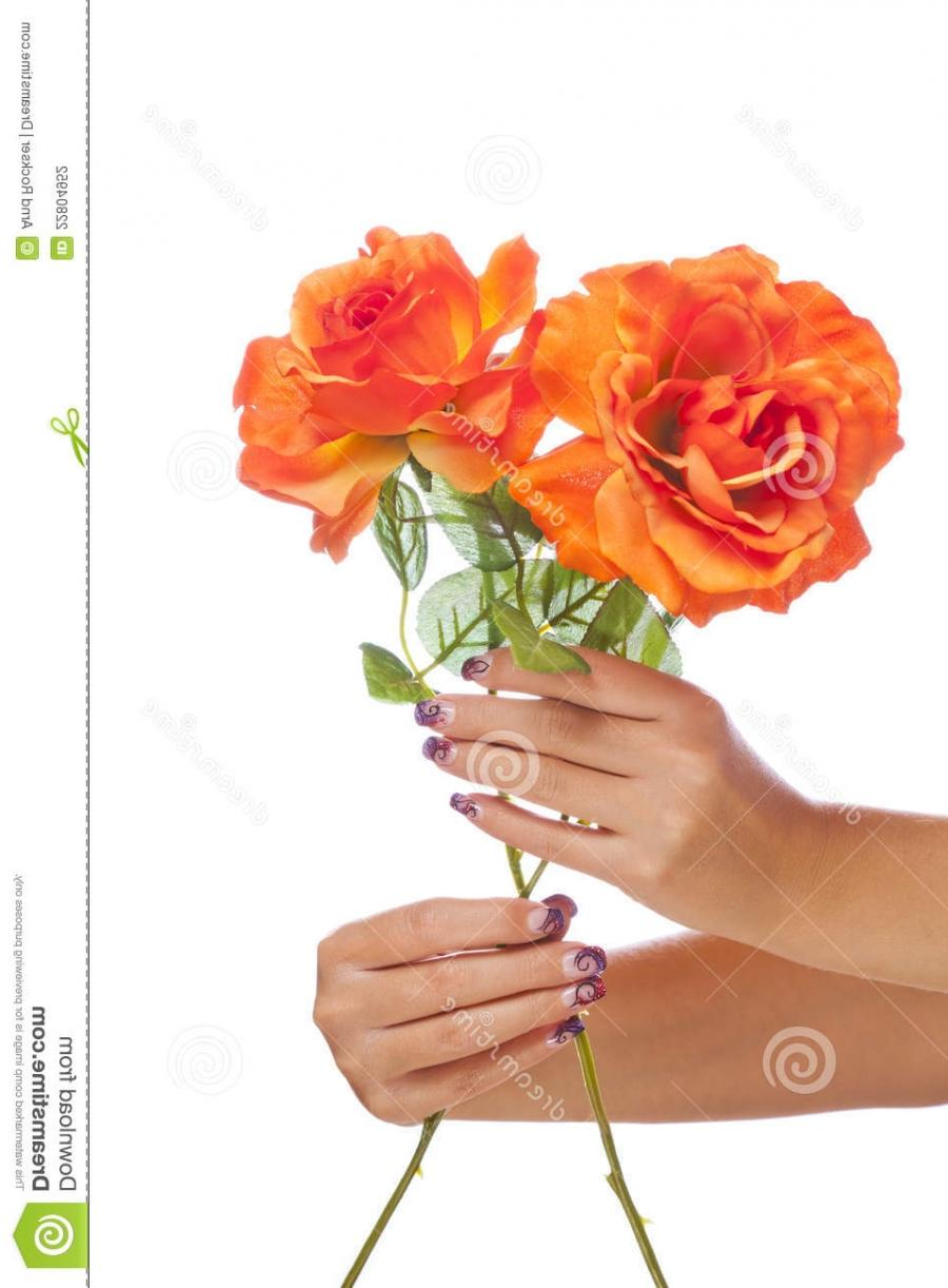 Photos Of Hands Holding Flowers