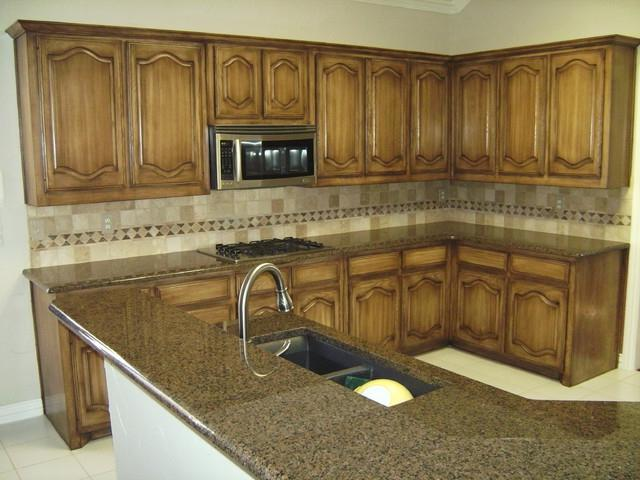 Before After Photos Glazed Cabinets