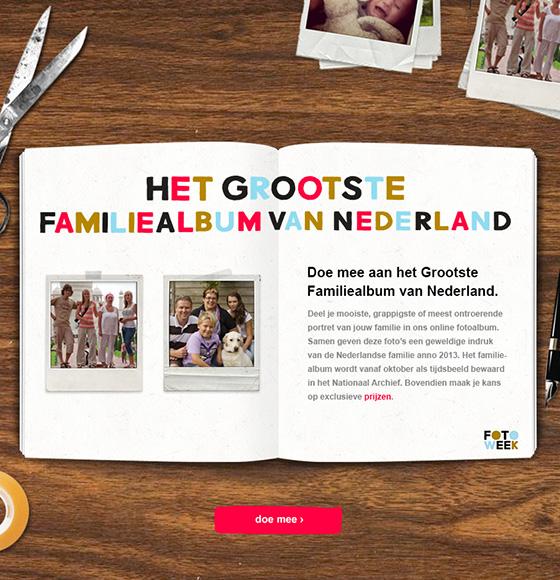 Fotoweek profileert zich met 'grootste familiealbum'