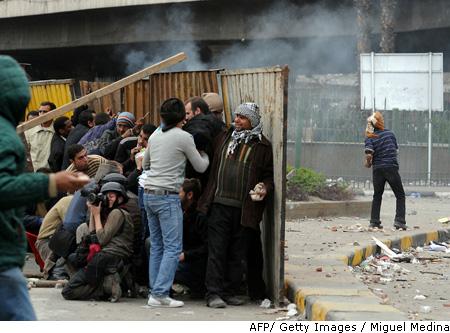 Lijst aangevallen fotografen in Cairo steeds langer