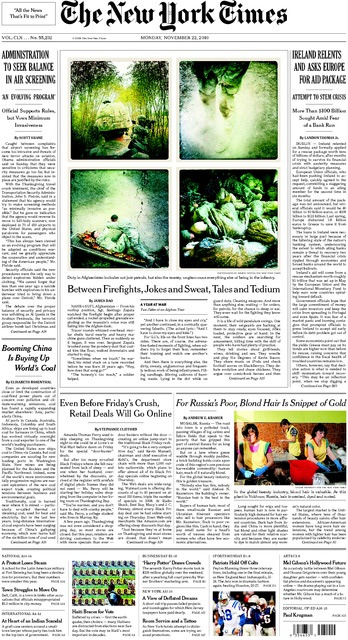 New York Times zet iPhone-oorlogsfoto's op de 1