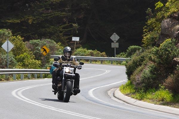 Biker on route...