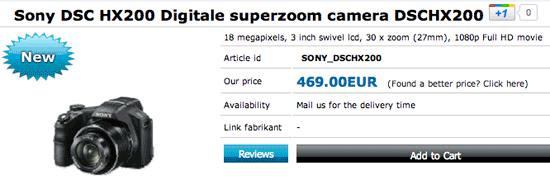 Sony Cybershot HX 200