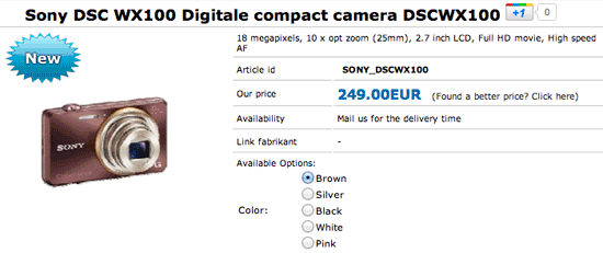 Sony DSC WX100