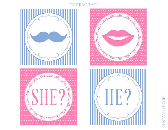 Download These Cute Free Gender Reveal Printables Catch