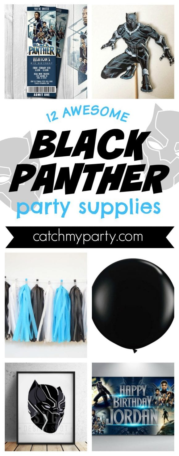 12 Awesome Black Panther Birthday Party Supplies Catch My Party