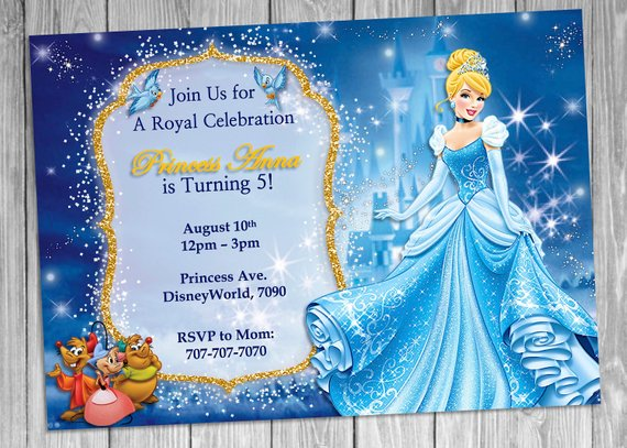 these disney princess party invitations