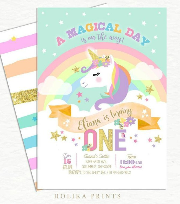 look at these wonderful unicorn party