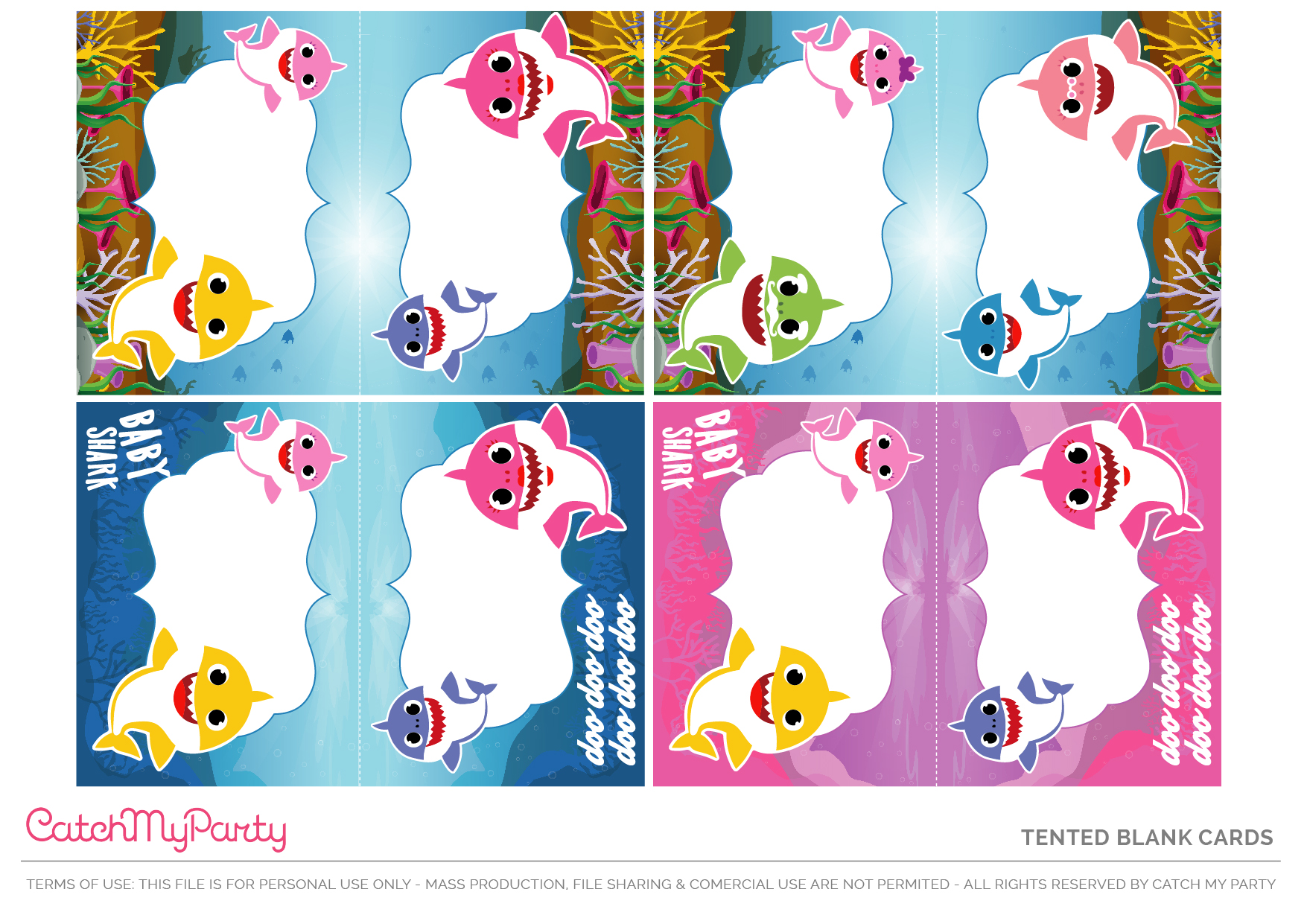 free baby shark party printables