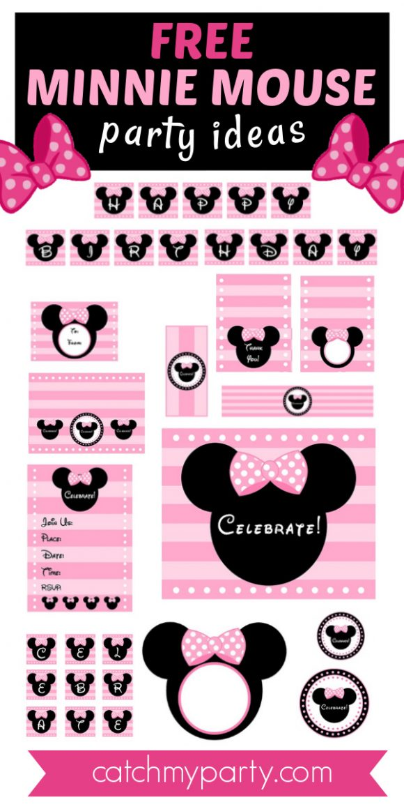 Download These Free Pink Minnie Mouse Party Printables Catch My Party