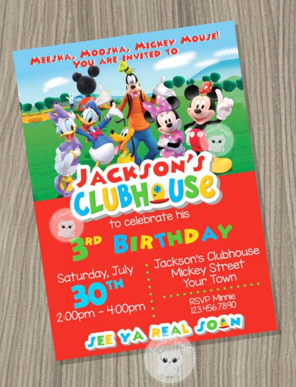 How Cool Are These 18 Fun Mickey Mouse Party Invitations Catch My Party