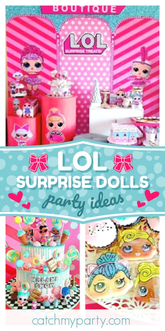 Fiesta de cumpleaños de LOL Surprise Dolls |  CatchMyParty.com