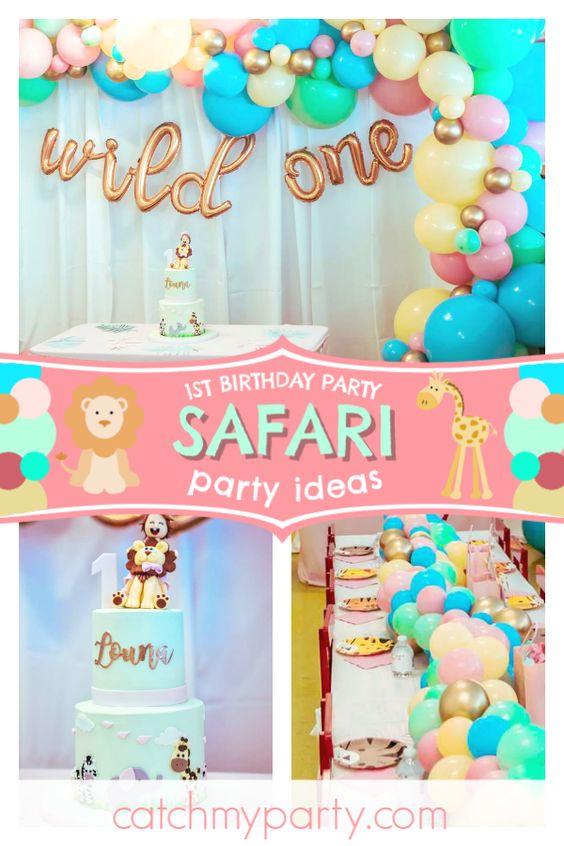 Fiesta de cumpleaños de safari