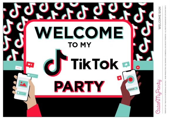 fun free tiktok party printables