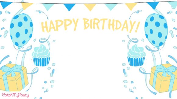 Free Zoom Backgrounds For Boy Virtual Birthday Parties Catch My Party
