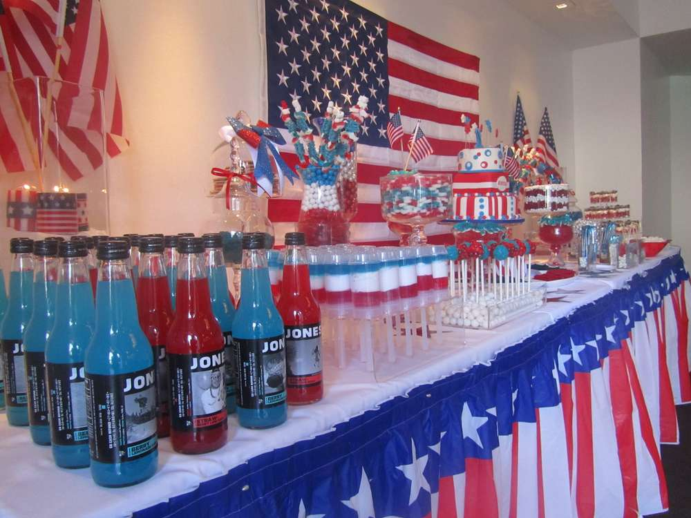 Patriotic 4th Of July Party Ideas Photo 2 Of 11 Catch My Party