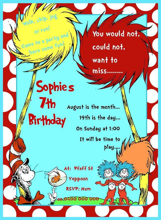 Dr Seuss Birthday Party Ideas Photo 20 Of 20 Catch My Party