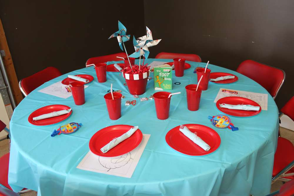 first birthday dr seuss birthday party