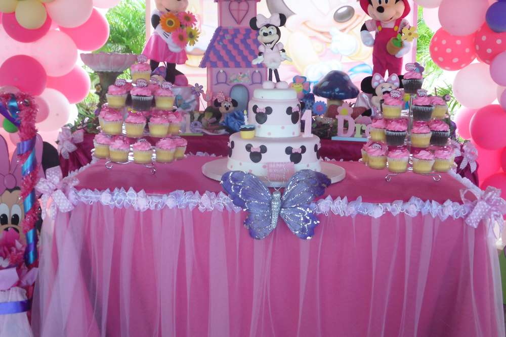 Baby Minnie Mouse 1st Birthday Birthday Party Ideas Photo 83 Of 83 Catch My Party