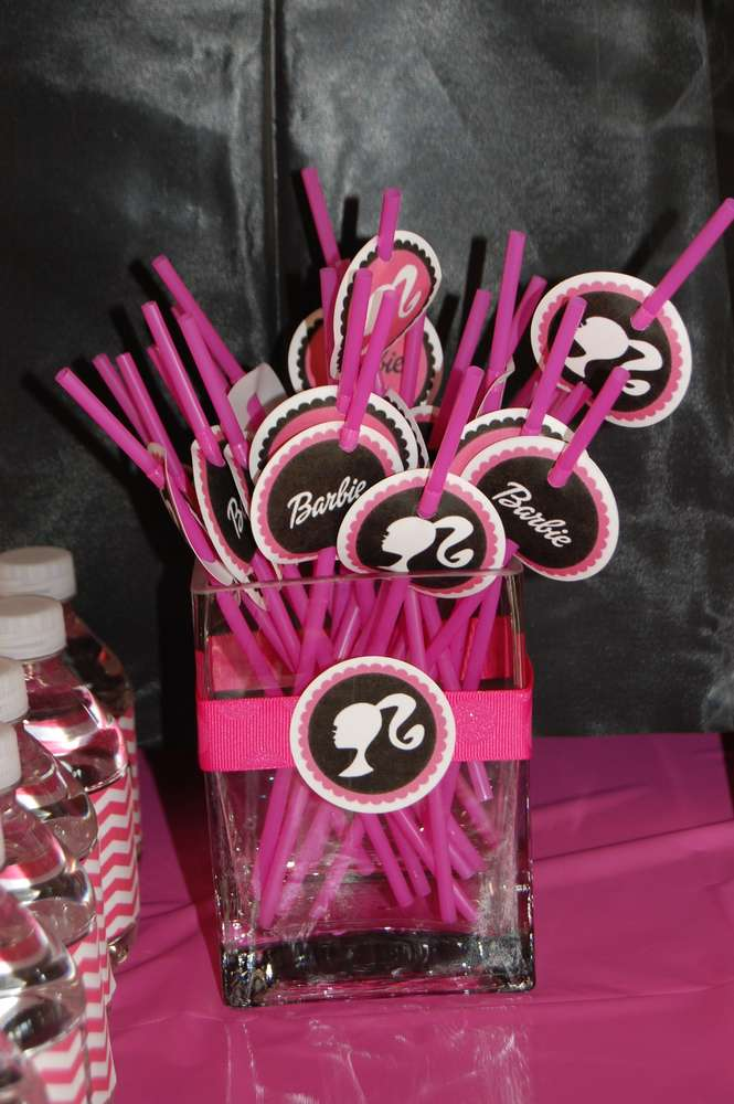 Barbie Silhouette Birthday Party Ideas Photo 1 Of 9 Catch My Party