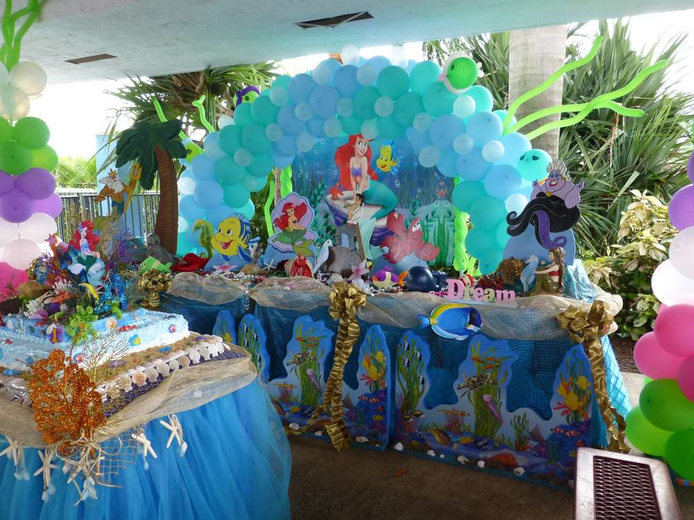 Little Mermaid Birthday Party Ideas Photo 51 Of 105 Catch My Party