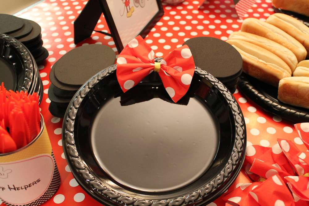 Mickey Minnie Mouse Party Birthday Party Ideas Photo 11 Of 32 Catch My Party