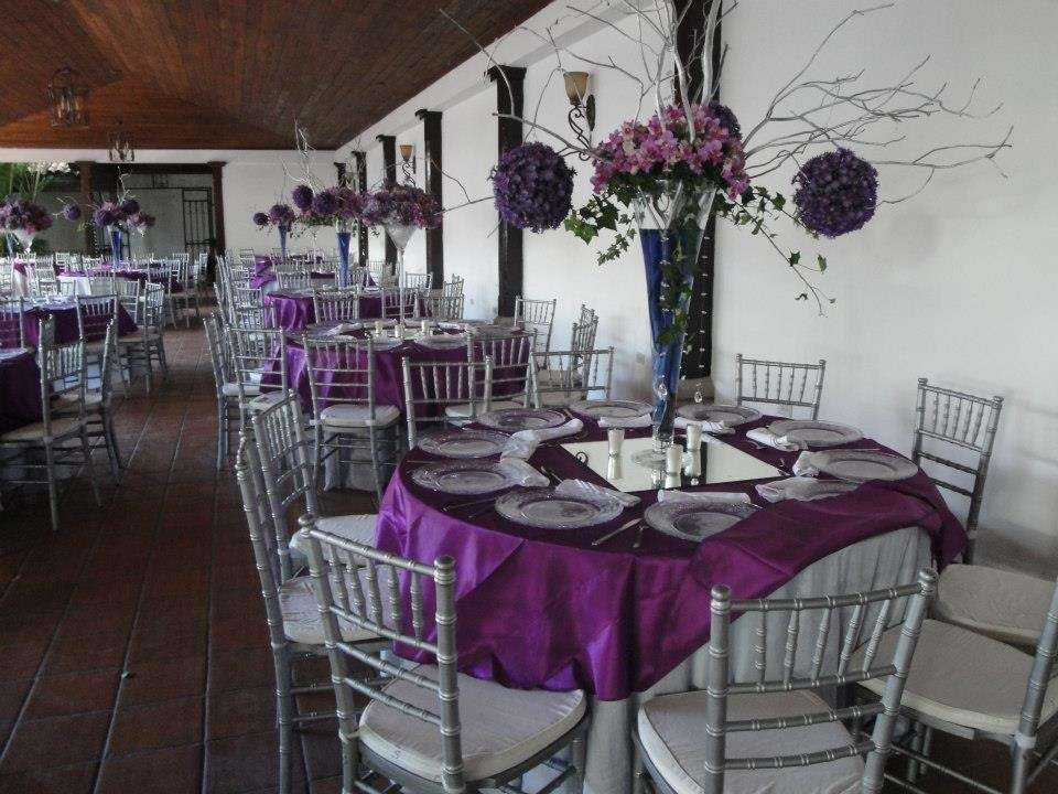 Purple Amp Silver Wedding Party Ideas Photo 2 Of 15