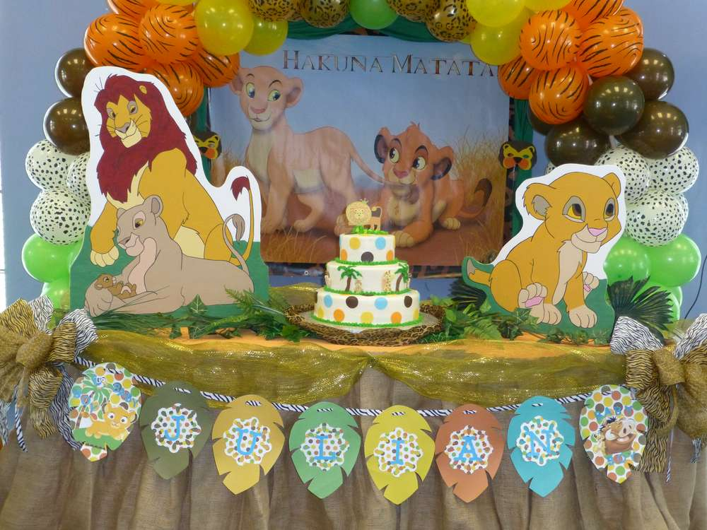 Baby Lion King Baby Shower Party Ideas Photo 3 Of 38