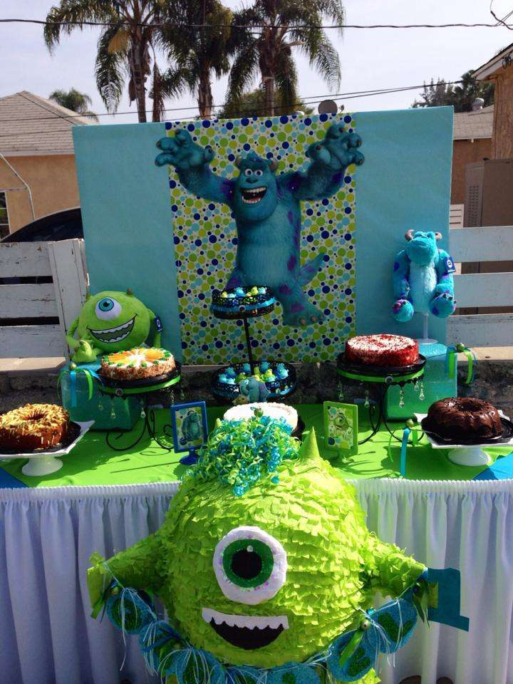 Monster S Inc Birthday Party Ideas Photo 1 Of 16 Catch My Party