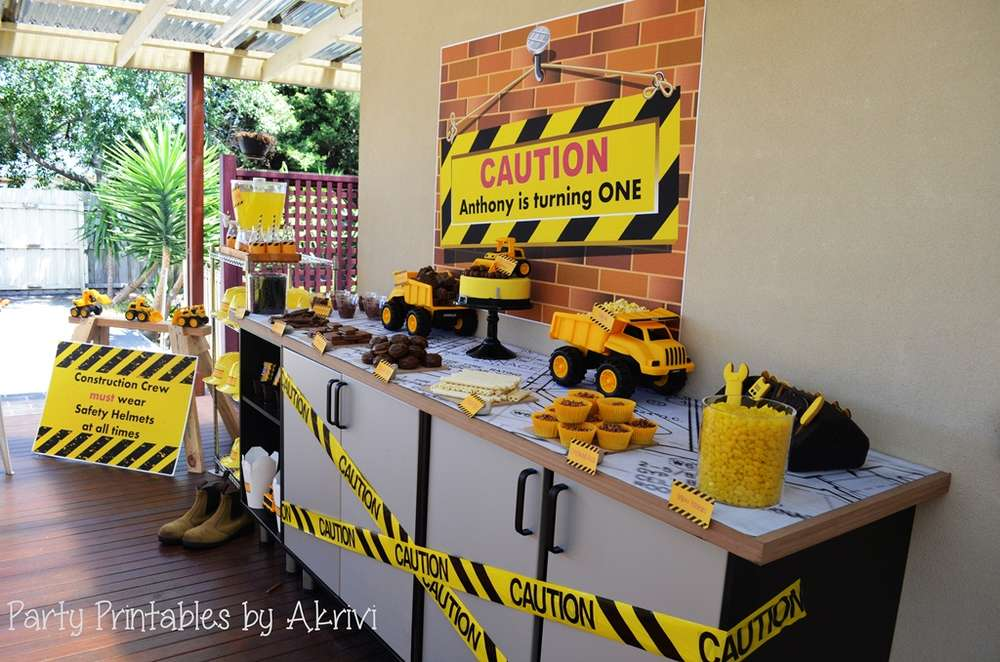 Construction Birthday Party Ideas Photo 5 Of 32 Catch My Party