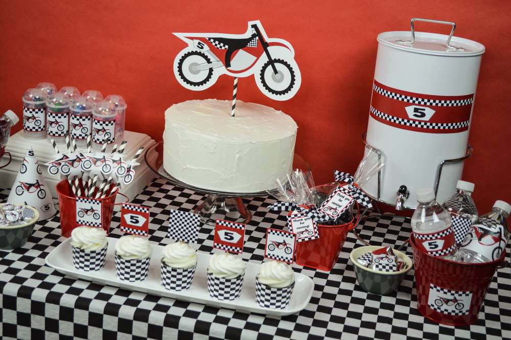 Motorcycle Mx Dirt Bike Birthday Party Ideas Photo 38 Of 57 Catch My Party