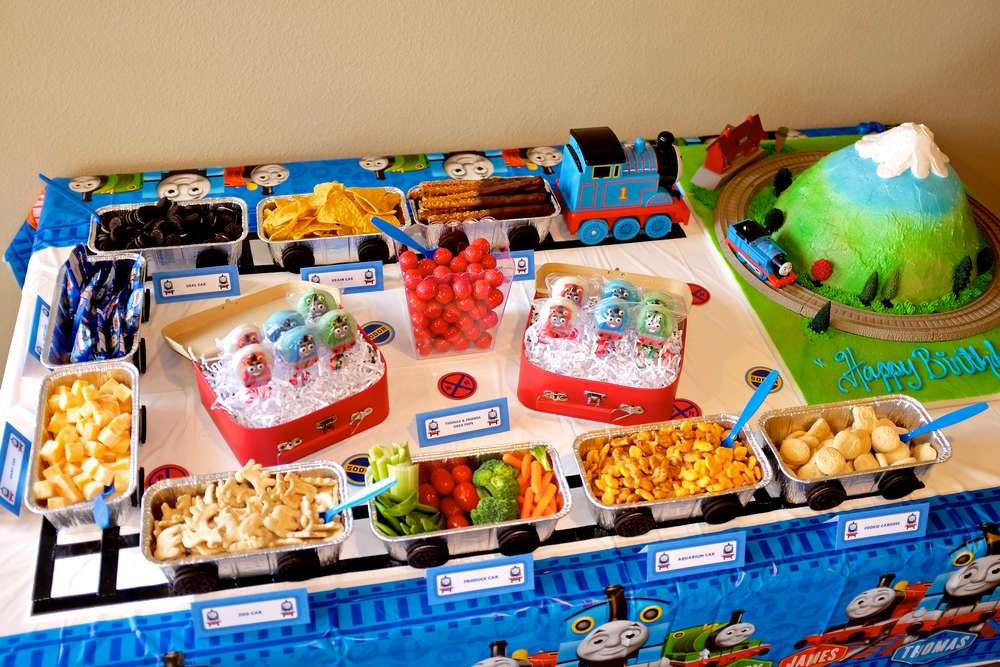 Thomas The Train Birthday Party Ideas Photo 25 Of 48 Catch My Party