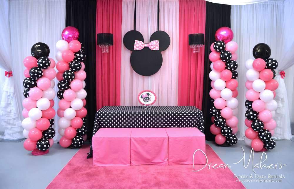 Minnie Mouse Polka Dots Birthday Party Ideas Photo 9 Of 32 Catch My Party