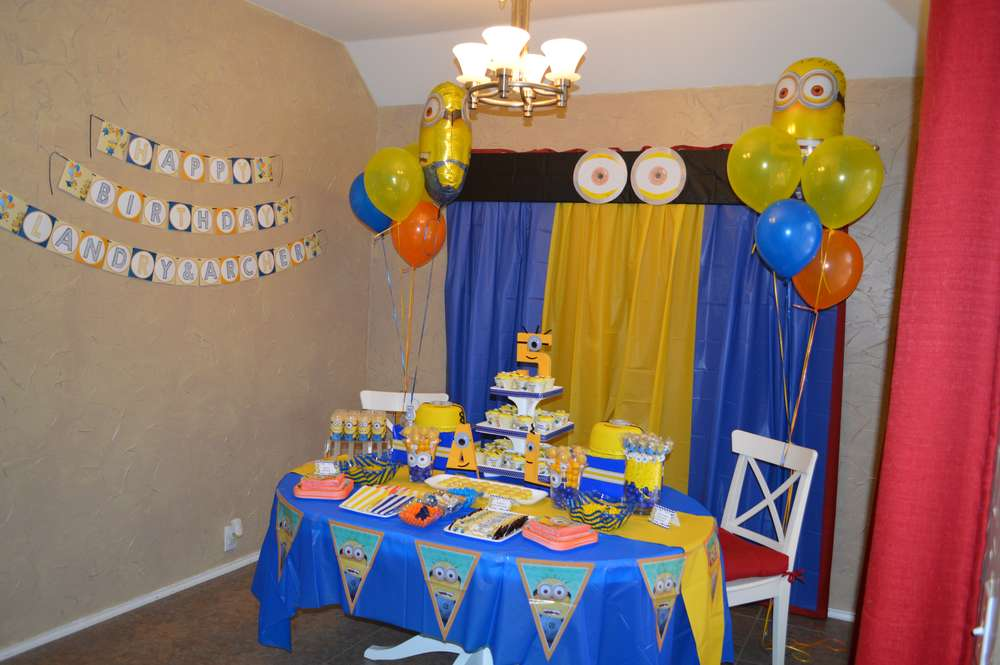 Minions Birthday Party Ideas Photo 1 Of 27 Catch My Party