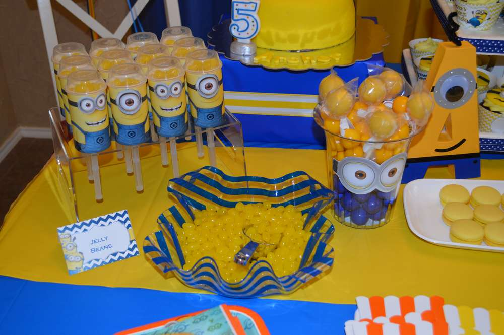 Minions Birthday Party Ideas Photo 8 Of 27 Catch My Party