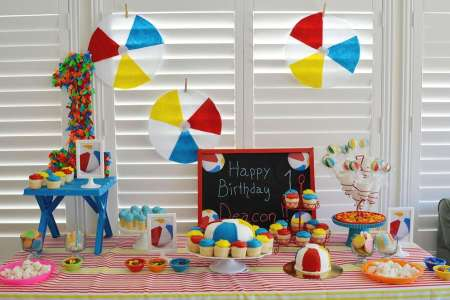 beach themed birthday party plates picture gallery