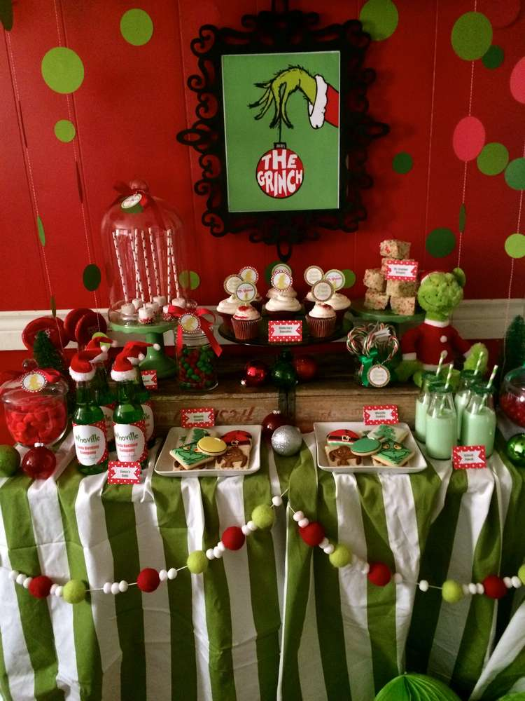 The Grinch ChristmasHoliday Party Ideas Photo 1 Of 17