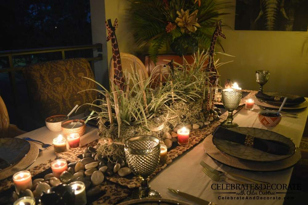 Safari Dinner Party Party Ideas Photo 10 Of 13 Catch