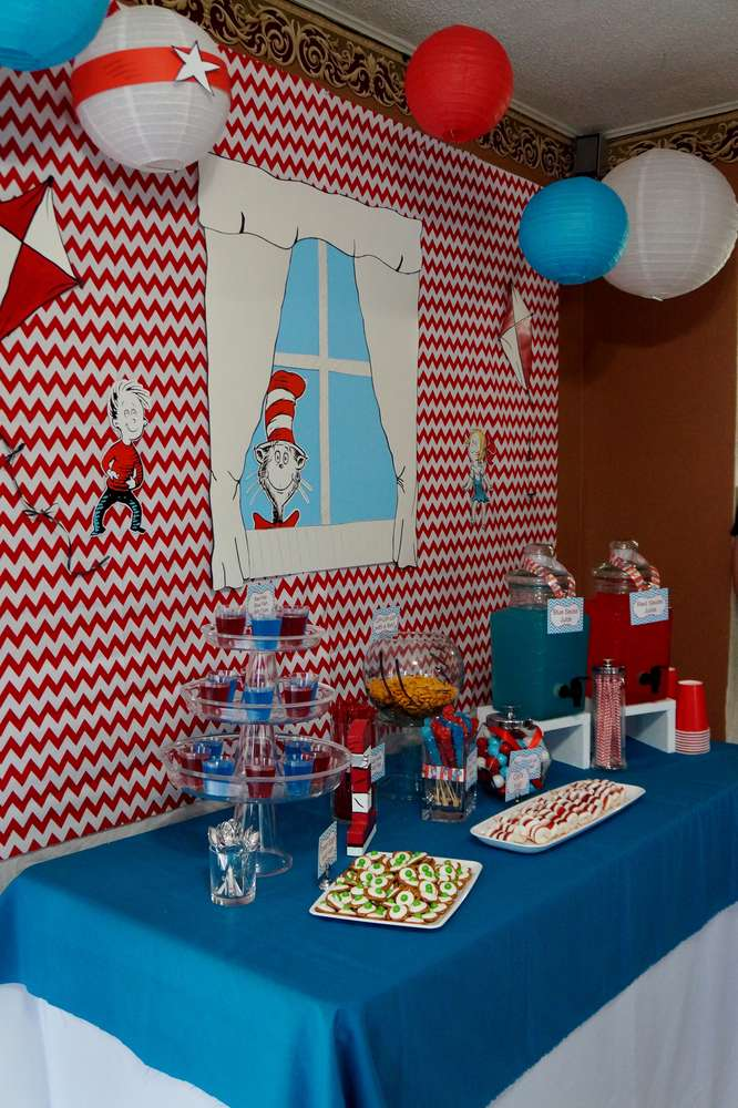 Cat In The Hat Birthday Party Ideas Photo 23 Of 36 Catch My Party