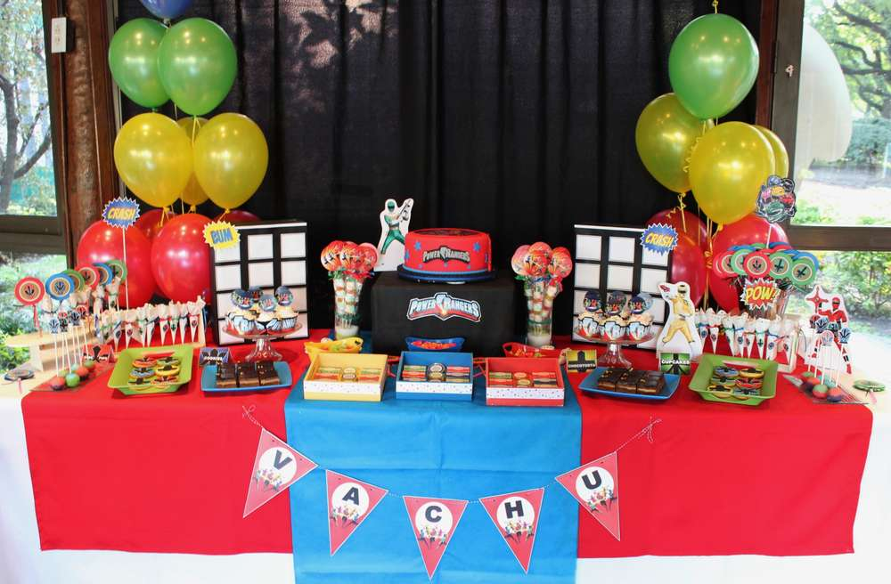 Power Rangers Birthday Party Ideas Photo 5 Of 10 Catch My Party