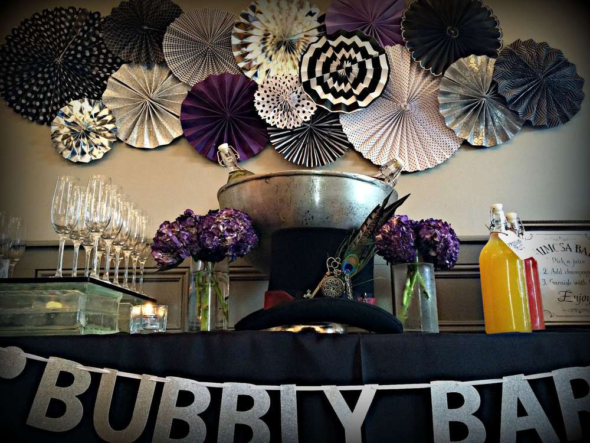 Black White Purple Amp Blue BridalWedding Shower Party