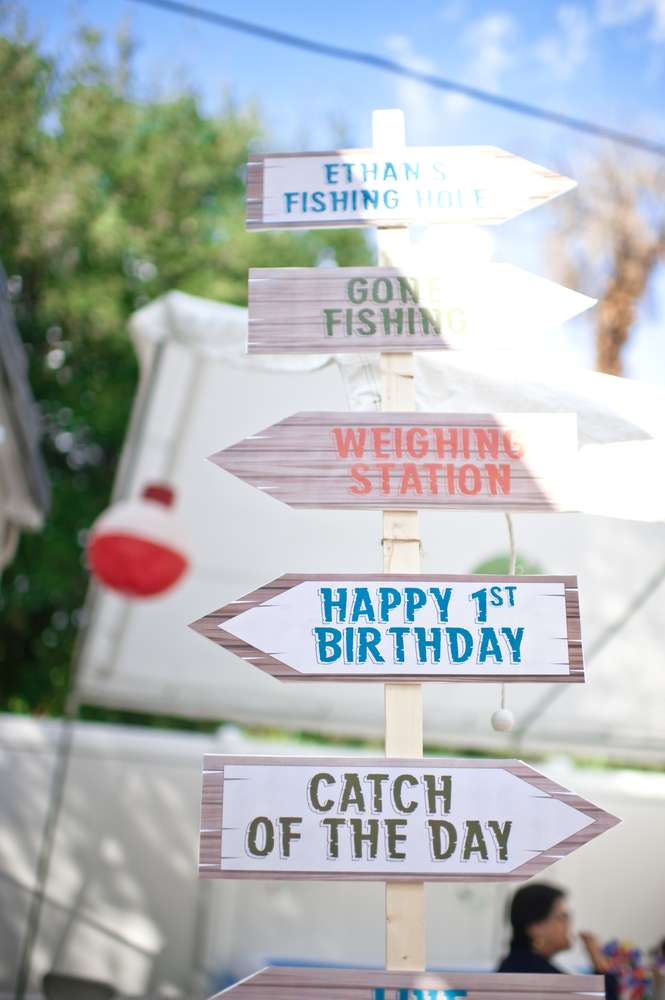 Gone Fishing Birthday Party Ideas Photo 1 Of 103 Catch My Party