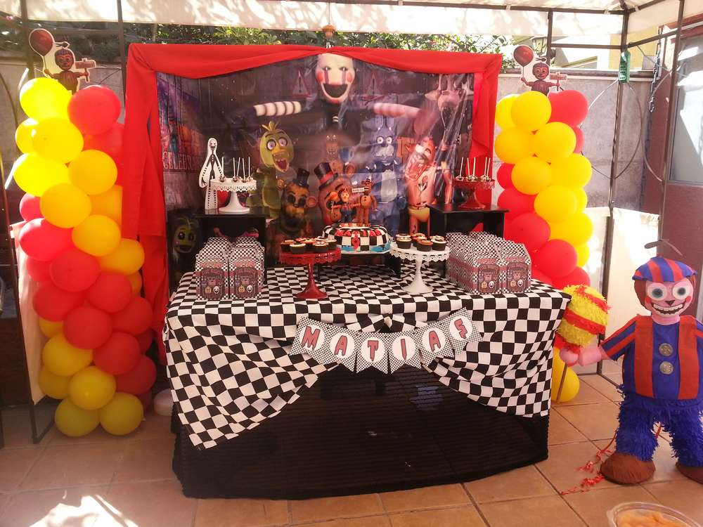 Five Nights At Freddy S Birthday Party Ideas Photo 1 Of 13 Catch My Party