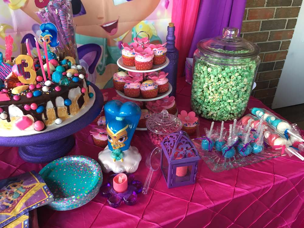 Shimmer And Shine Birthday Party Ideas Photo 1 Of 20 Catch My Party
