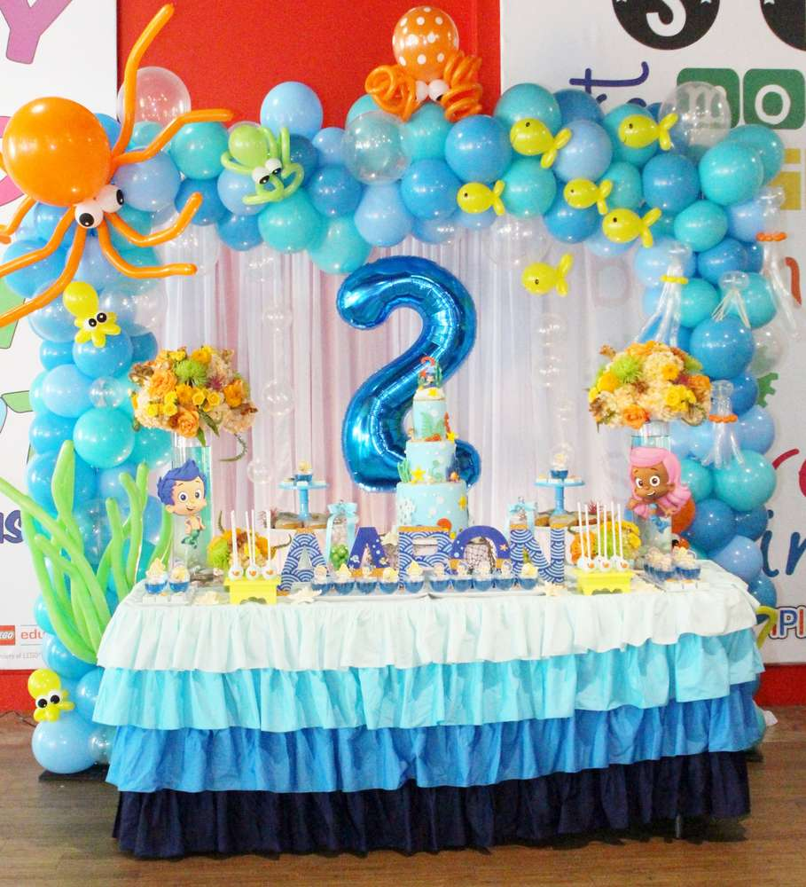Bubble Guppies Birthday Party Ideas Photo 9 Of 34 Catch My Party