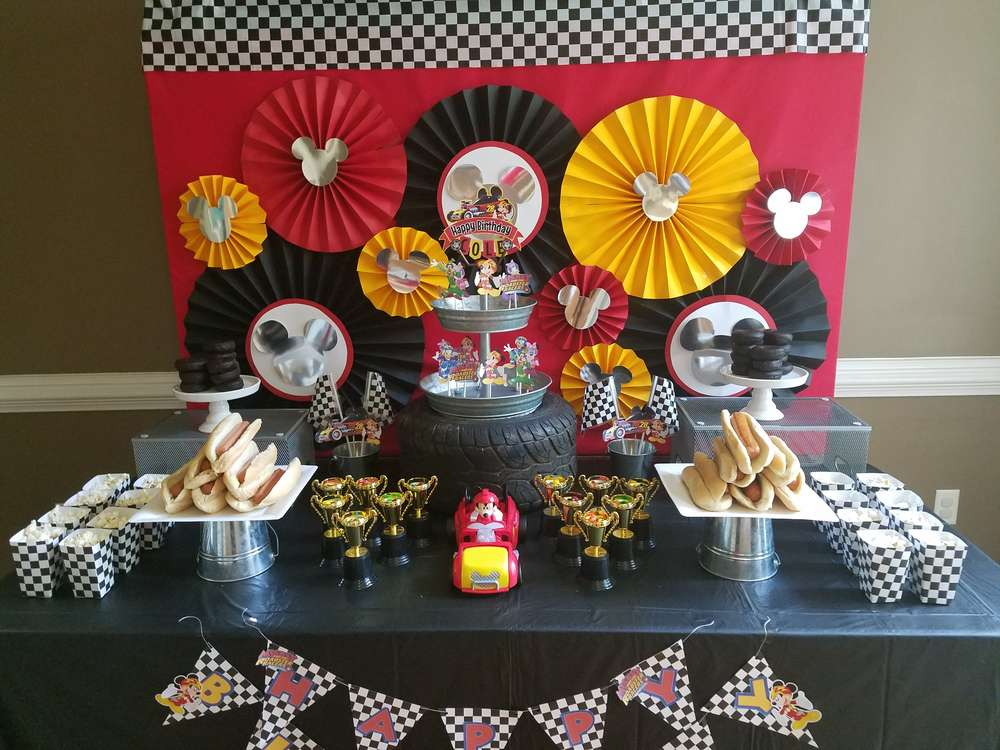 Mickey Roadster Racers Birthday Party Ideas Photo 1 Of 8 Catch My Party