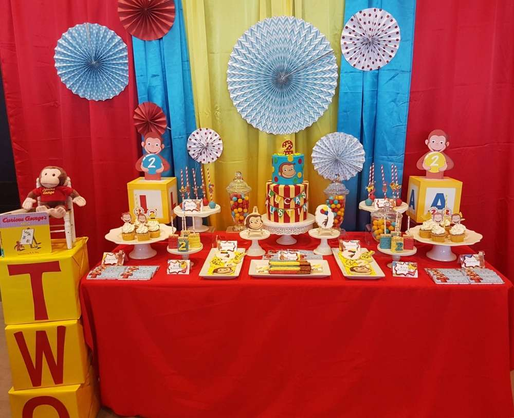 Curious George Birthday Party Ideas Photo 9 Of 16 Catch My Party